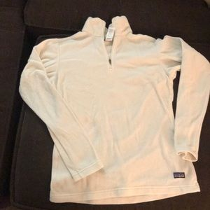 Patagonia white polyester pull over